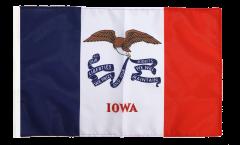 USA Iowa Flag - 12 x 18 inch