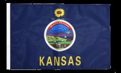 USA Kansas Flag - 12 x 18 inch