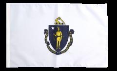 USA Massachusetts Flag with sleeve