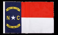 USA North Carolina Flag - 12 x 18 inch