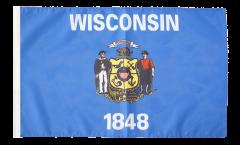 USA Wisconsin Flag - 12 x 18 inch