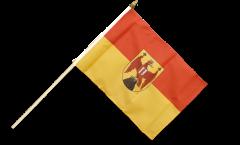 Austria Burgenland Hand Waving Flag - 12 x 18 inch