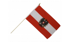 Austria with eagle Hand Waving Flag - 12 x 18 inch