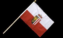 Austria Upper Austria Hand Waving Flag - 12 x 18 inch