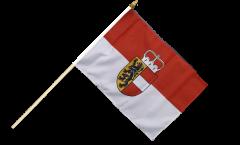 Austria Salzburg Hand Waving Flag - 12 x 18 inch