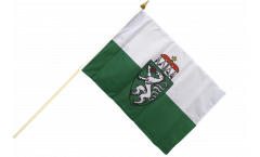 Austria Styria Hand Waving Flag - 12 x 18 inch
