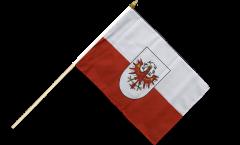 Austria Tyrol Hand Waving Flag - 12 x 18 inch