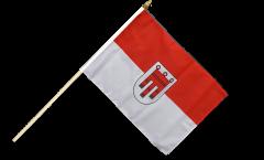 Austria Vorarlberg Hand Waving Flag