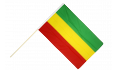 Ethiopia without crest, Rasta Hand Waving Flag - 2 x 3 ft.