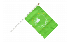 African Union AU Hand Waving Flag - 12 x 18 inch