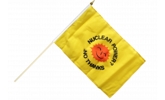 Nuclear Power No Thanks Hand Waving Flag - 12 x 18 inch