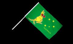 Australia kangaroo Hand Waving Flag
