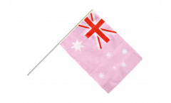Australia Pink Hand Waving Flag