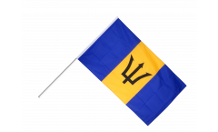 Barbados Hand Waving Flag