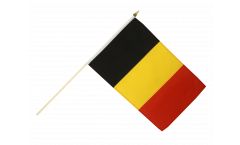 Belgium Hand Waving Flag - 12 x 18 inch