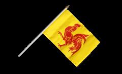 Belgium Wallonia Hand Waving Flag - 12 x 18 inch