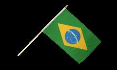 Brazil Hand Waving Flag - 12 x 18 inch