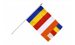 Buddhist Hand Waving Flag - 12 x 18 inch