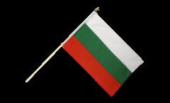 Bulgaria Hand Waving Flag - 12 x 18 inch