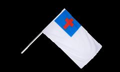 Christian Flag Hand Waving Flag