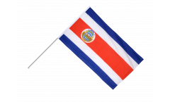 Costa Rica Hand Waving Flag