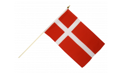 Denmark Hand Waving Flag - 12 x 18 inch