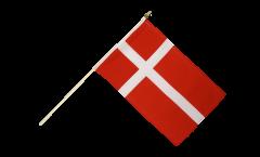 Denmark Hand Waving Flag - 12 x 18 inch