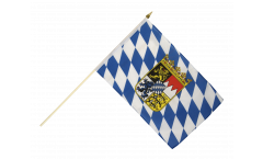 Germany Bavaria with coat of arms Hand Waving Flag - 12 x 18 inch