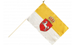 Germany Kingdom of Hanover 1814-1866 Hand Waving Flag - 12 x 18 inch