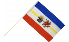 Germany Mecklenburg-Western Pomerania Hand Waving Flag