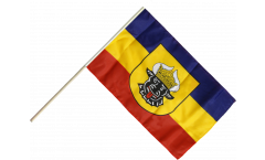 Germany Mecklenburg old Hand Waving Flag