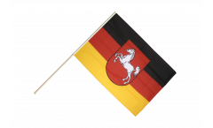 Germany Lower Saxony Hand Waving Flag