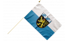 Germany Upper Bavaria Hand Waving Flag - 12 x 18 inch