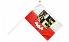 Germany Upper Franconia Hand Waving Flag - 12 x 18 inch
