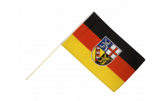 Germany Saarland Hand Waving Flag