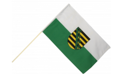 Germany Saxony Hand Waving Flag - 2 x 3 ft.