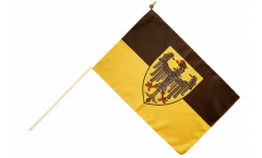 Germany Aaachen Hand Waving Flag - 12 x 18 inch