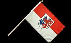 Germany Düsseldorf Hand Waving Flag