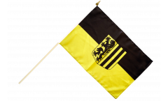 Germany Dresden Hand Waving Flag - 12 x 18 inch