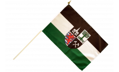 Germany Gelsenkirchen Hand Waving Flag - 12 x 18 inch