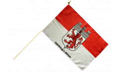 Germany Hohenlimburg Hand Waving Flag - 12 x 18 inch