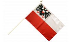 Germany Lübeck Hand Waving Flag - 12 x 18 inch