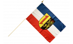 Germany Mannheim Hand Waving Flag - 12 x 18 inch