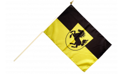 Germany Stuttgart Hand Waving Flag - 12 x 18 inch