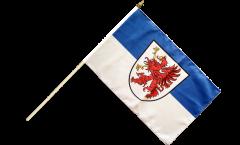 Germany West Pomerania Hand Waving Flag