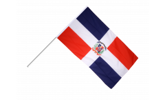 Dominican Republic Hand Waving Flag