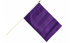 Unicolor Purple Hand Waving Flag - 12 x 18 inch