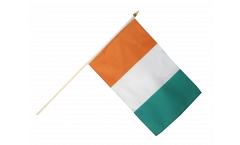 Ivory Coast Hand Waving Flag