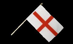England St. George Hand Waving Flag - 12 x 18 inch
