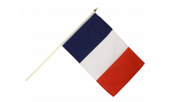 France Hand Waving Flag - 12 x 18 inch